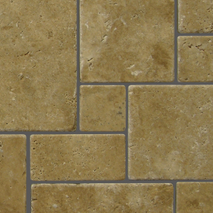 QDI Noce Mini Versailles Pattern Travertine Tumbled Mosaic Tile